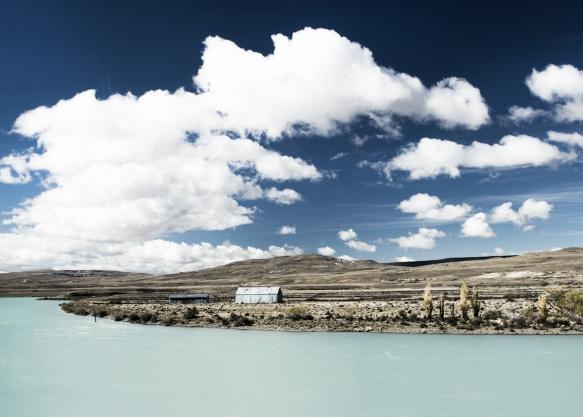 Patagonia Mountains lake trees