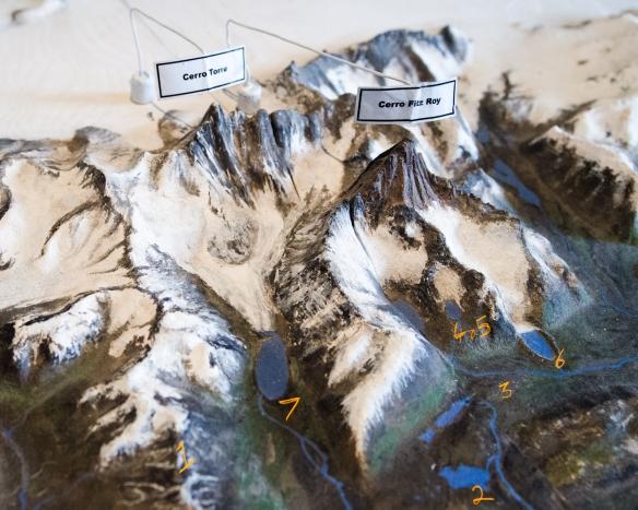 el chalten diorama map